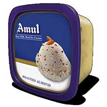 Amul BP Roasted Almond Ice Cream – 5 Litre